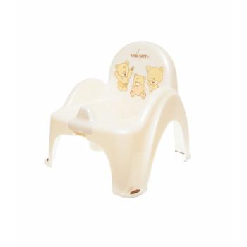 Горшок кресло Tega MS-012 Мишка MS-012-118, white perla, белый
