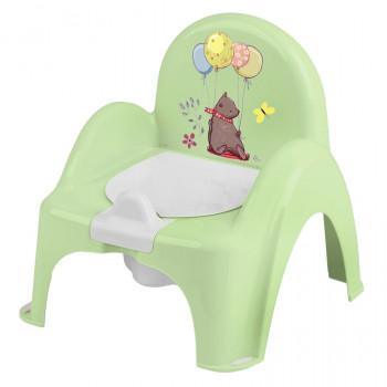 Горшок кресло Tega PO-073 Лесная сказка музыкальный PO-073-112, green, светло зеленый