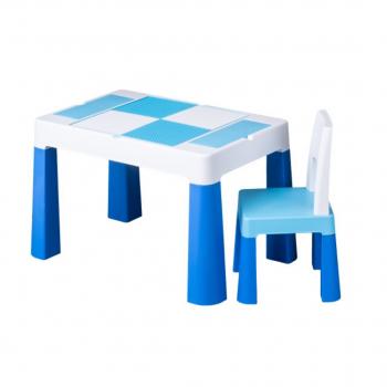 Комплект стол и стул Tega MF-001 Multifun 1 + 1 blue, голубой