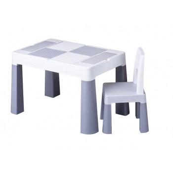 Комплект стол и стул Tega MF-001 Multifun 1 + 1 grey, серый