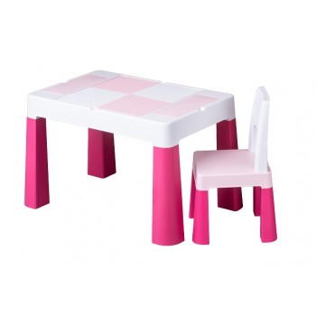 Комплект стол и стул Tega MF-001 Multifun 1 + 1 pink, розовый