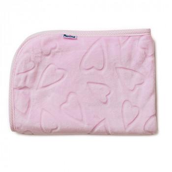 Плед Twins велюр Сердечки 80 * 104 1406-187-08, pink, розовый