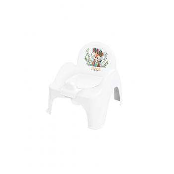 Горшок кресло Tega DZ-007 Дикий запад DZ-007-103 Fox, white / green, белый / зеленый