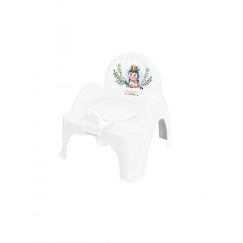 Горшок кресло Tega DZ-007 Дикий запад DZ-007-103 Unicorn, white / pink, белый / розовый