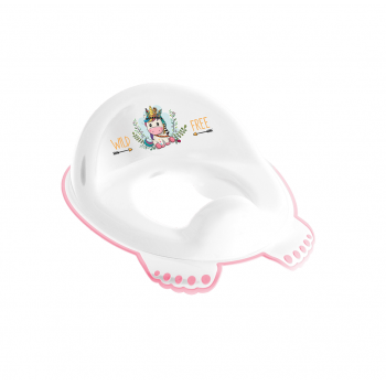 Накладка на унитаз Tega DZ-002 Дикий запад DZ-002-103 Unicorn, white / pink, белый / розовый