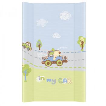 Пеленальная доска Cebababy 50x80 Basic line W-210-073- Мое авто, голубой
