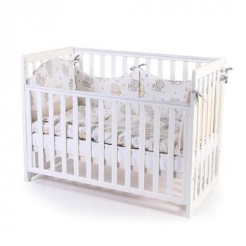 Кроватка Верес ЛД13 без колес без ящика съемная спица 13.1.1.20.06, белый, белый