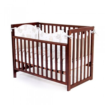 Кроватка Верес ЛД13 без колес без ящика съемная спица 13.1.1.20.03, орех, коричневый