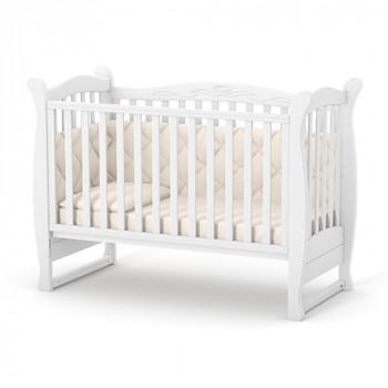 Кроватка Верес ЛД15 без колес без ящика 15.1.1.1.06, белый, белый