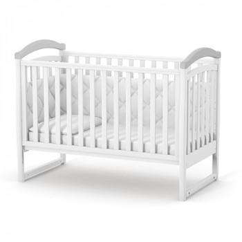 Кроватка Верес ЛД6 без колес без ящика 06.1.1.1.17, бело / серый, белый / серый