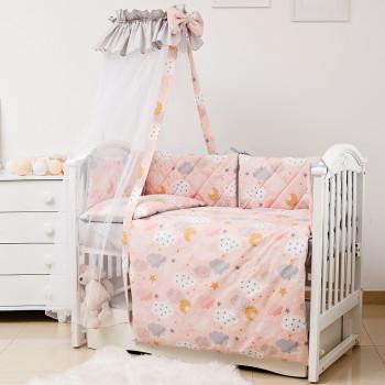 Постельный комплект 8 эл Twins Premium Glamour 4029-TGС-15 Clouds peach, персик
