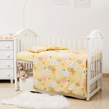 Сменная постель 3 эл Twins Premium Glamour Limited 3064-PGNEWC-05 Clouds yellow, желтый
