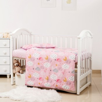 Сменная постель 3 эл Twins Premium Glamour Limited 3064-PGNEWC-08 Clouds pink, розовый