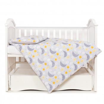 Сменная постель 3 эл Twins Premium Glamour Limited 3064-PGNEWN-101, Ноченька серая, серый