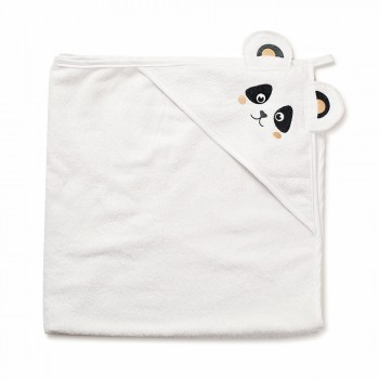 Полотенце Twins Панда 100x100 1500-TANP-01 White, белый