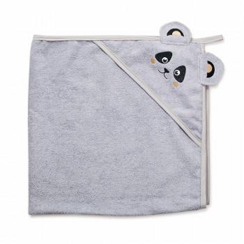 Полотенце Twins Панда 100x100 1500-TANP-010, grey, серый