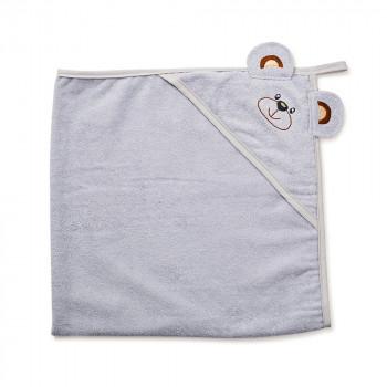 Полотенце Twins Мишка 100x100 1500-TANV-010, grey, серый