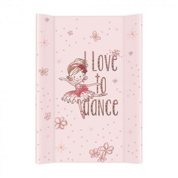 Пеленальная доска Cebababy 50x80 Basic line W-210-091-138, Прима балерина в танце, белый / розовый