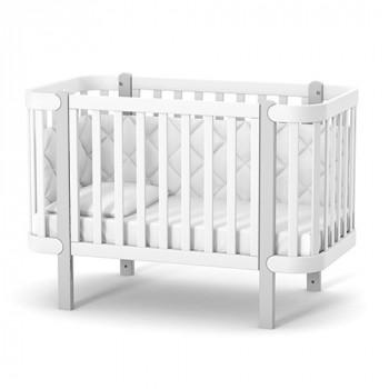 Кроватка Верес ЛД5 Монако без колес без ящика 05.3.1.211.17, бело / серый, белый / серый