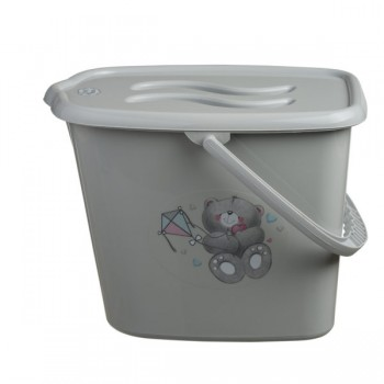 Ведерко для памперсов Maltex Bears grey, серый