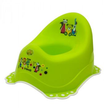 Горшок Maltex Bear & Friends 2K 5313 green / white, зеленый / белый