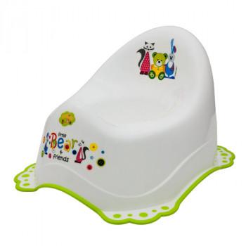 Горшок Maltex Bear & Friends 2K 5313 white / green, белый / зеленый