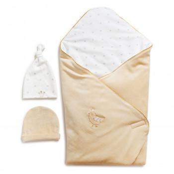 Набор на выписку Twins Celebrity (плед, 2 шапки) 9064-TC-02, beige, бежевый