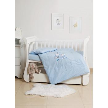 Сменная постель 3 эл Twins Limited 3099-TL-003, Dog & cat blue, голубой