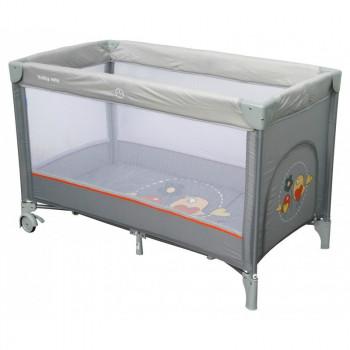 Манеж - кровать Baby Mix HR-8052 Воробышки HR-8052 Bird, grey, серый