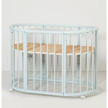 Кровать Twins Cozy овальное 160х60 9800-TC-160-04, голубой, голубой