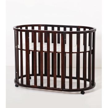 Кровать Twins Cozy овальное 160х60 9800-TC-160-13, шоколад, коричневый