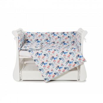 Бампер Twins Comfort line 2054-С-056, Самолетики, голубой