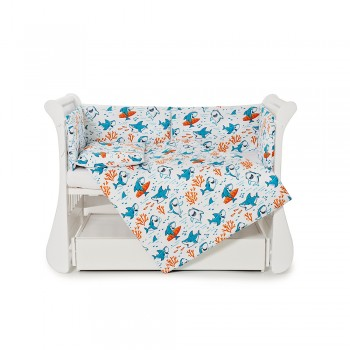 Бампер Twins Comfort line 2054-С-057, Акулки, голубой