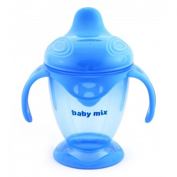 Поилка - непроливайка Baby Mix 200 ml RA-C1-1711 RA-C1-1711 B, blue, голубой