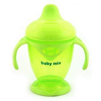 Поилка - непроливайка Baby Mix 200 ml RA-C1-1711 RA-C1-1711 GR, green, зеленый