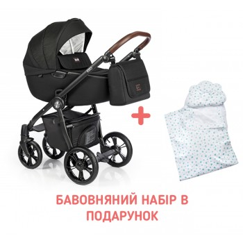 Коляска 2 в 1 Roan Esso Total Black, чорний