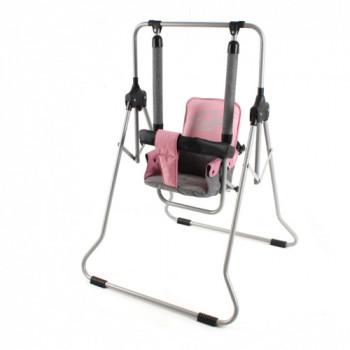 Качели Adbor Luna (с барьером) 9020-ALN-01, 01 розовый / серый