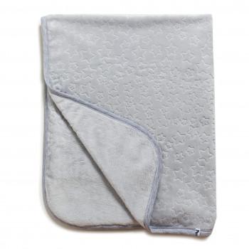 Плед Twins велюр Зірочка 80*104 1406-TVZ-010, grey, сірий