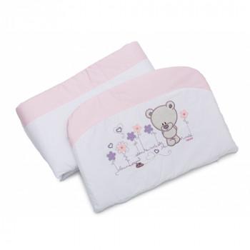 Бампер Twins Evo Лето сатин / аппликация 2073-A-017, pink, розовый
