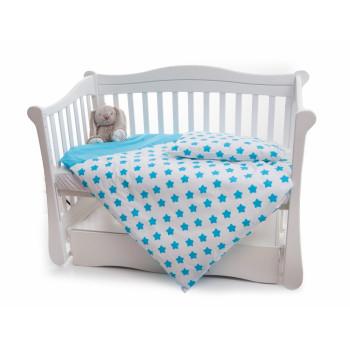 Сменная постель 2 эл Twins Premium 3027-P-061, Звездочка голубая, голубой