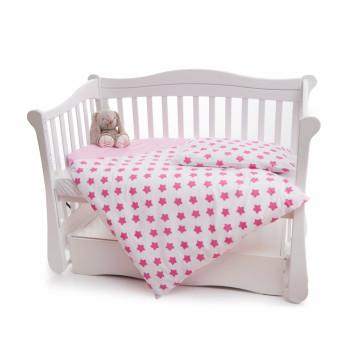 Сменная постель 2 эл Twins Premium 3027-P-062, Звездочка розовая, розовый
