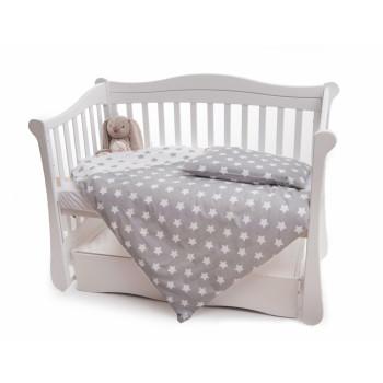 Сменная постель 2 эл Twins Premium 3027-P-063, Звездочка серая, белый / серый