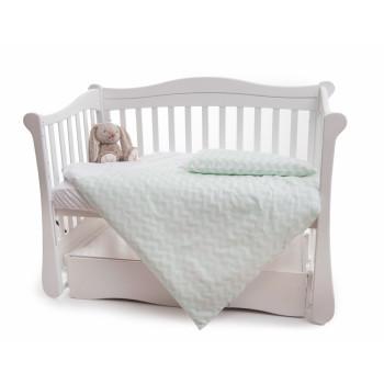 Сменная постель 2 эл Twins Premium 3027-P-064, Зигзаг синий, белый / синий