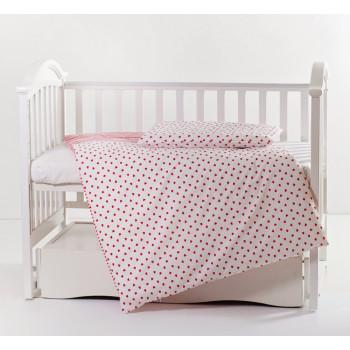 Сменная постель 2 эл Twins Premium 3027-P-068, Сердечки, красный