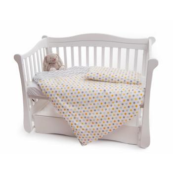 Сменная постель 2 эл Twins Premium 3027-P-069, Горошки желтые, желтый
