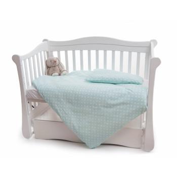 Сменная постель 2 эл Twins Premium 3027-P-070, Горошки, мятный