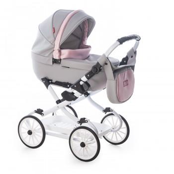 Коляска Broco Mini 2020 кукольная 9022-BM-2020-01, 01 серый / розовый