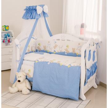 Постельный комплект 8 эл Twins Standard Basic 4050-CB-020, Горошки голубые, голубой