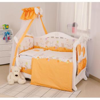Постельный комплект 8 эл Twins Standard Basic 4050-CB-021, Горошки оранжевые, оранжевый