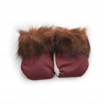 Перчатки Twins Snow меховые 80-192-07, chocolate, коричневый